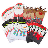 Holiday Die-Cut Gift Sacks, Set of 24