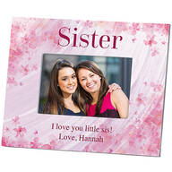 Personalized Sister Flowers 'a Flutter Photo Frame