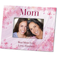 Personalized Mom Flowers 'a Flutter Photo Frame
