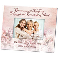 Personalized Laugh, Dream & Love Photo Frame