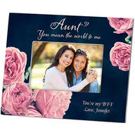 Personalized Aunt's English Rose Photo Frame