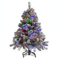 4-Ft. Color-Changing Flocked Tree by Holiday Peak™