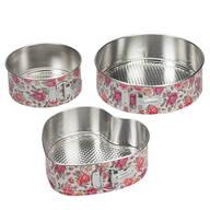 Vintage Floral Spring Release Bakeware, Set of 3