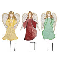 Metal Angel Stakes by Maple Lane Creations™, Set of 3