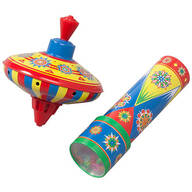 Tin Top & Kaleidoscope, Set of 2
