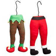 Santa and Elf Tree Legs, Set of 2