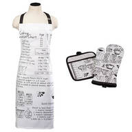 Kitchen Measurments Apron and Oven Mitt Set