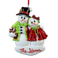 Personalized Snowcouple Ornament