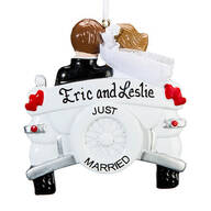 Personalized Just Married Car Ornament