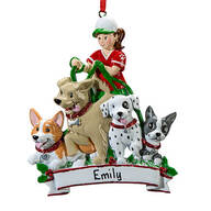 Personalized Dog Walker Ornament