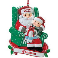 Personalized Santa and Child Ornament