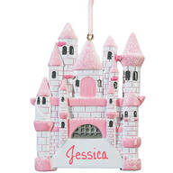 Personalized Pink Princess Castle Ornament