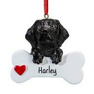 Personalized Black Lab Ornament