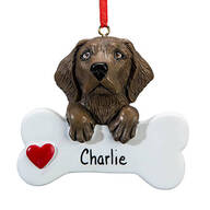 Personalized Chocolate Lab Ornament