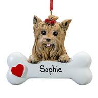 Personalized Yorkie Ornament