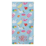 Personalized Summer Fun Kid's Beach Towel