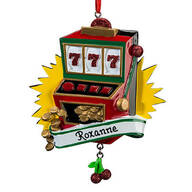 Personalized Slot Machine Ornament
