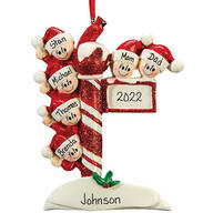 Personalized Street Post Family Ornament