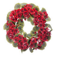 "14"" Geranium Wreath by Oakridge Outdoor™"