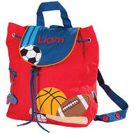 Personalized Stephen Joseph® Sports Quilted Backpack