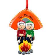 Personalized Camping Family Ornament