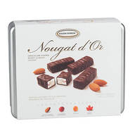 Assorted Chocolate Coated Almond Nougat Tin