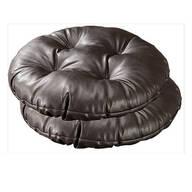 Chocolate Faux Leather Bar Stool Cushion, Set of 2