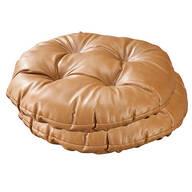 Camel Faux Leather Bar Stool Cushion, Set of 2