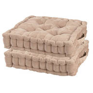 Natural Tufted Booster Cushion, Set of 2