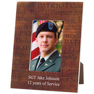 Personalized Call of Duty Patriotic Wood Photo Frame