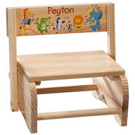 Personalized Children's Musical Animals Chair/Step Stool