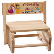 Personalized Children's Animals & Dessert Chair/Step Stool