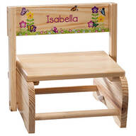Personalized Children's Butterflies & Flowers Chair/Step Stool