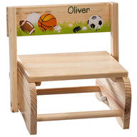 Personalized Children's Sports Chair/Step Stool