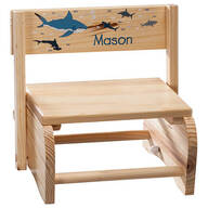 Personalized Children's Sharks Chair/Step Stool