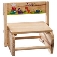 Personalized Children's Dinosaur Chair/Step Stool