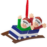 Personalized Family Roller Coaster Ornament
