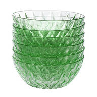 "William Roberts 6"" Glass Diamond Bowls, Set of 6"