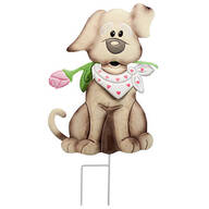 Metal Valentine's Puppy Stake by Fox River™ Creations