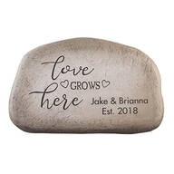 "Personalized ""Love Grows Here"" Garden Stone"