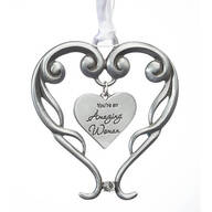 Pewter Amazing Woman Ornament