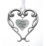 Pewter Amazing Mom Ornament