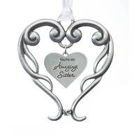 Pewter Amazing Sister Ornament