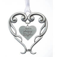 Pewter Amazing Daughter Ornament