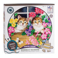 "Jane Maday Rounds ""Whiskers at the Window"" 300-pc. Puzzle"