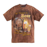 """The Answer is Beer"" T-Shirt"