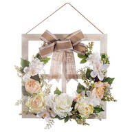 Window Frame Floral Wreath