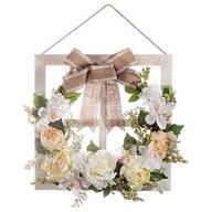 Window Frame Floral Wreath