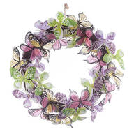 Colorful Butterflies Wreath