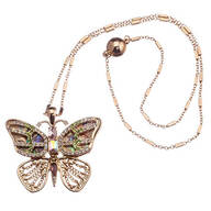 Crystal Butterfly Pendant with Magnetic Clasp